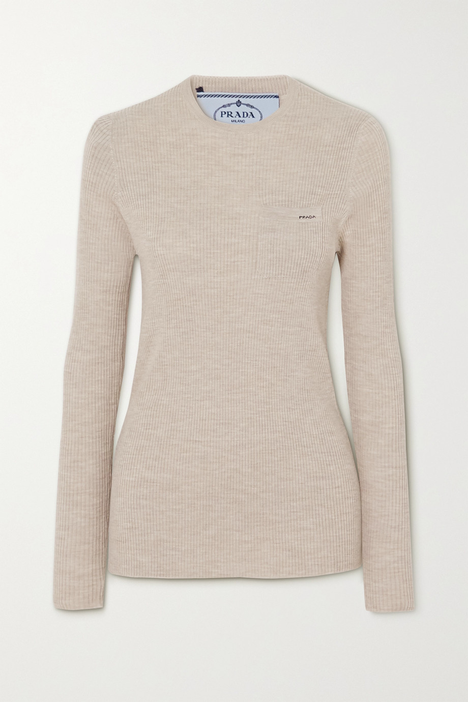 Prada Ribbed wool-blend sweater