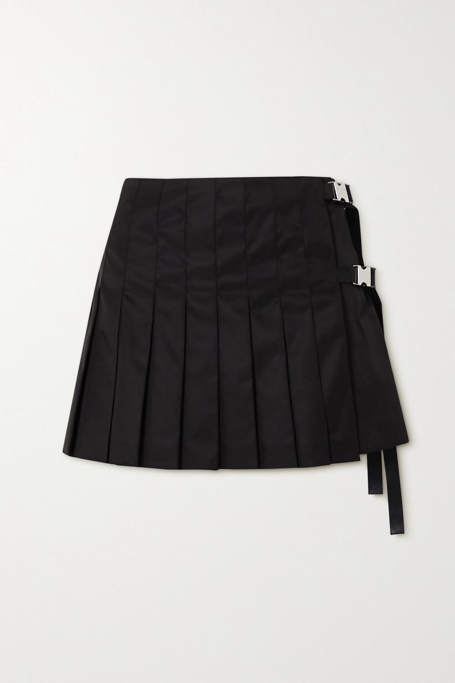 Prada Mini-jupe en ECONYL à plis et à ornements