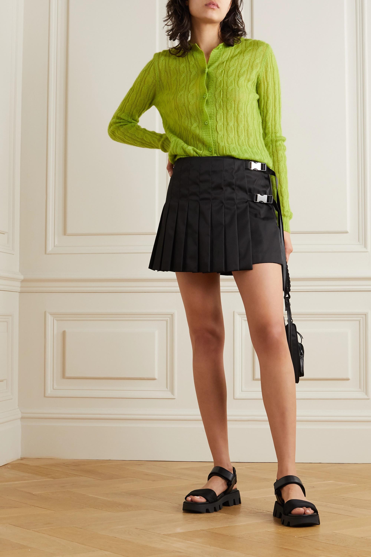 Prada Embellished pleated ECONYL mini skirt