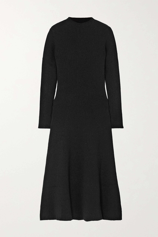 Prada - Ribbed wool-blend midi dress