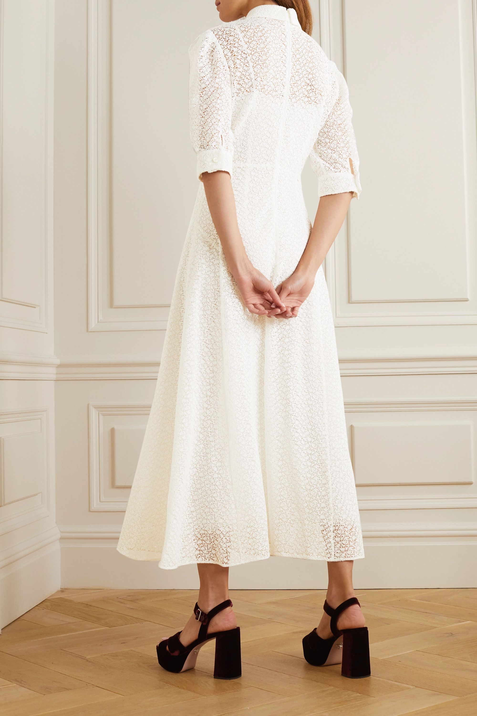 Prada Crocheted silk midi dress