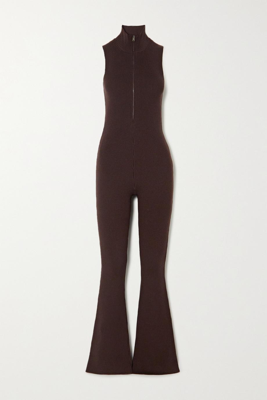 Prada Ribbed wool-blend jumpsuit