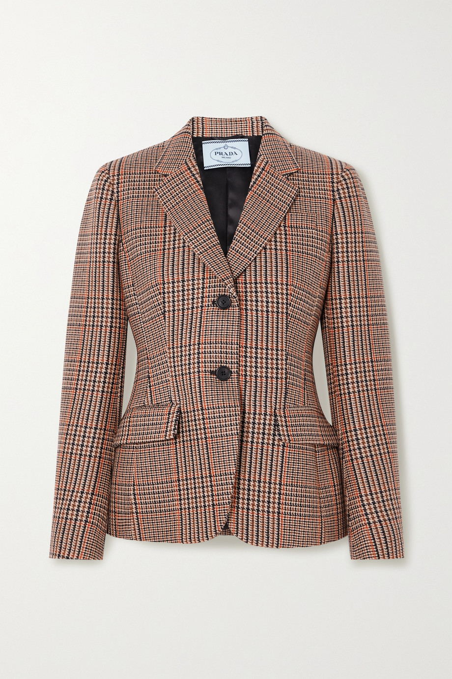 Prada Checked wool and cashmere-blend tweed blazer