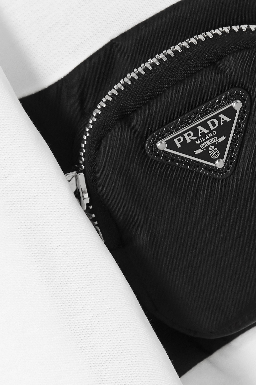 Prada Appliquéd ECONYL and cotton-jersey T-shirt