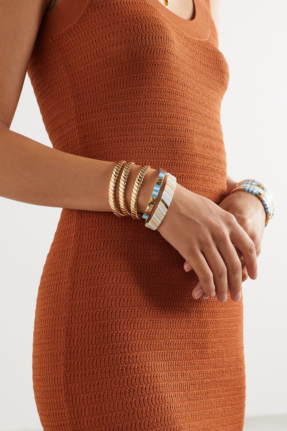 Roxanne Assoulin Simple Rope set of three gold-tone bracelets