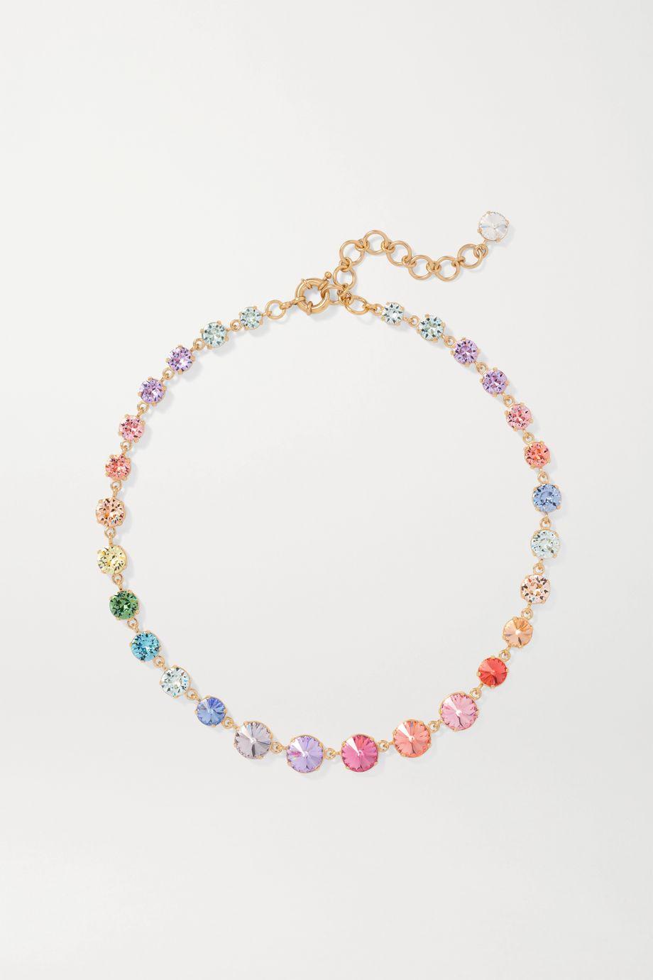 Roxanne Assoulin Technicolor Mini vergoldete Kette mit Swarovski-Kristallen