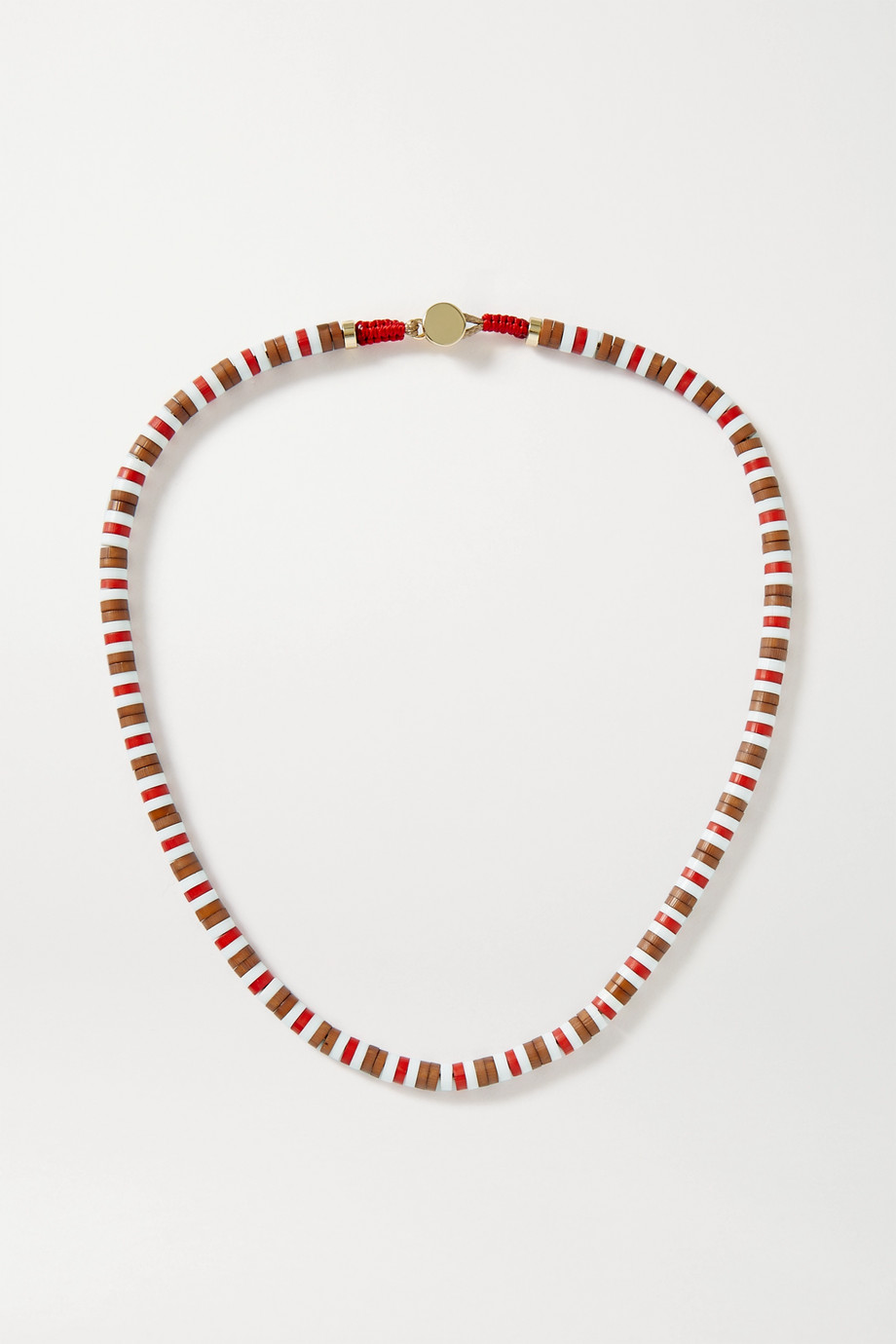 Roxanne Assoulin U-Tube wood necklace