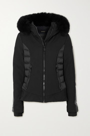 Goldbergh Kaja hooded faux fur-trimmed paneled down ski jacket
