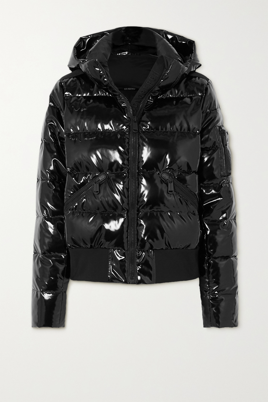 Goldbergh Aura hooded quilted glossed down ski jacket