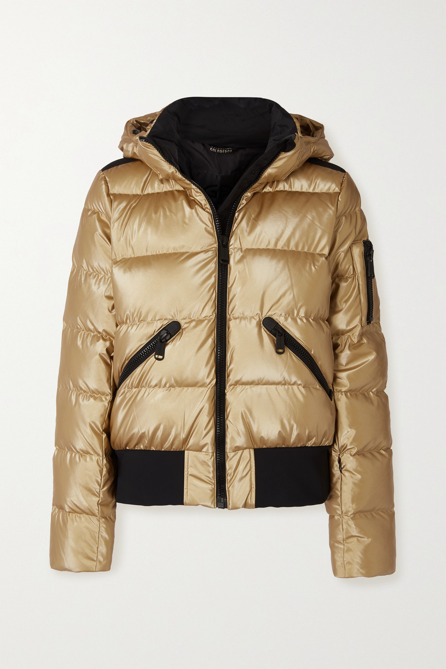 Goldbergh Aura hooded quilted metallic down ski jacket
