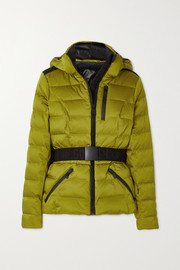 Goldbergh Soldis belted quilted down ski jacket