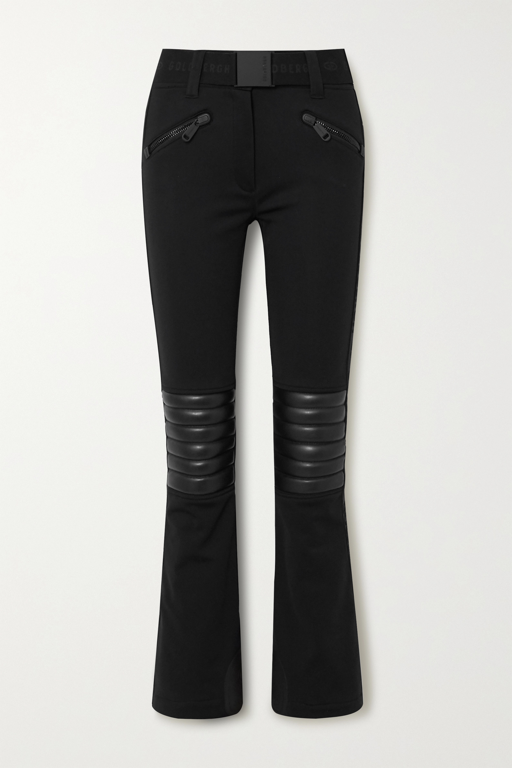 Goldbergh Rocky quilted faux leather-paneled ski pants