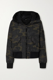 Goldbergh Forest hooded camouflage-print down ski jacket