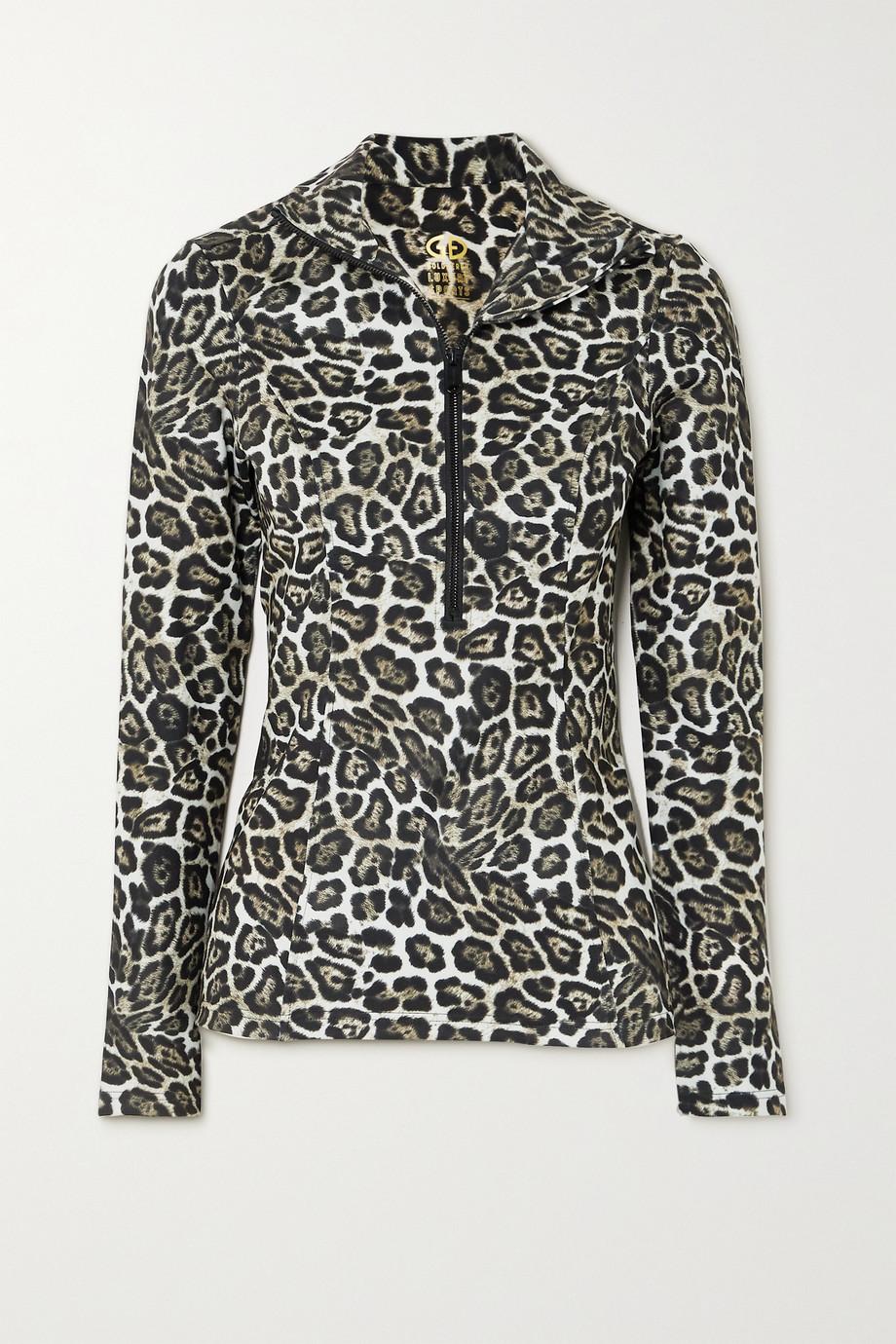 Goldbergh Lilja leopard-print stretch-jersey top