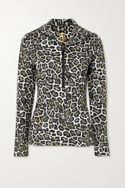 Goldbergh Lilja leopard-print stretch-jersey top