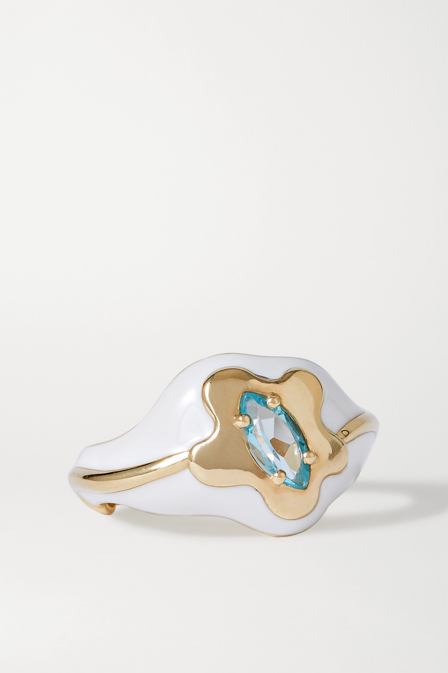 Bea Bongiasca 9K 黄金、搪瓷、托帕石戒指