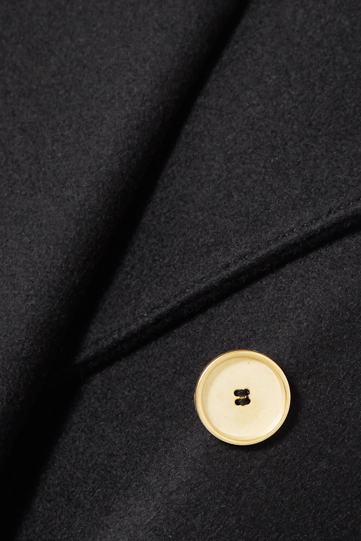 Black Clarissa Double-breasted Wool-blend Coat   Officine Générale