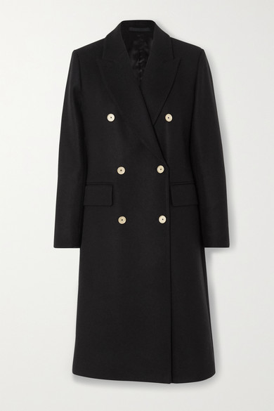 Officine Generale - Clarissa Double-breasted Wool-blend Coat - Black