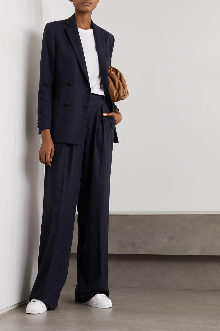 Officine Générale Mathilde double-breasted wool-flannel blazer