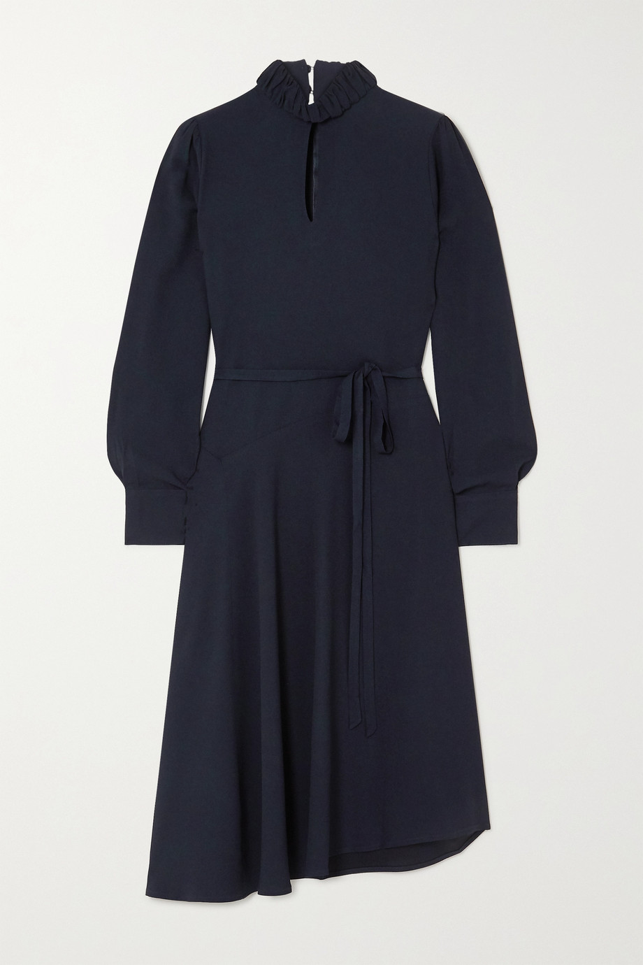 Officine Générale Solange asymmetric crepe dress