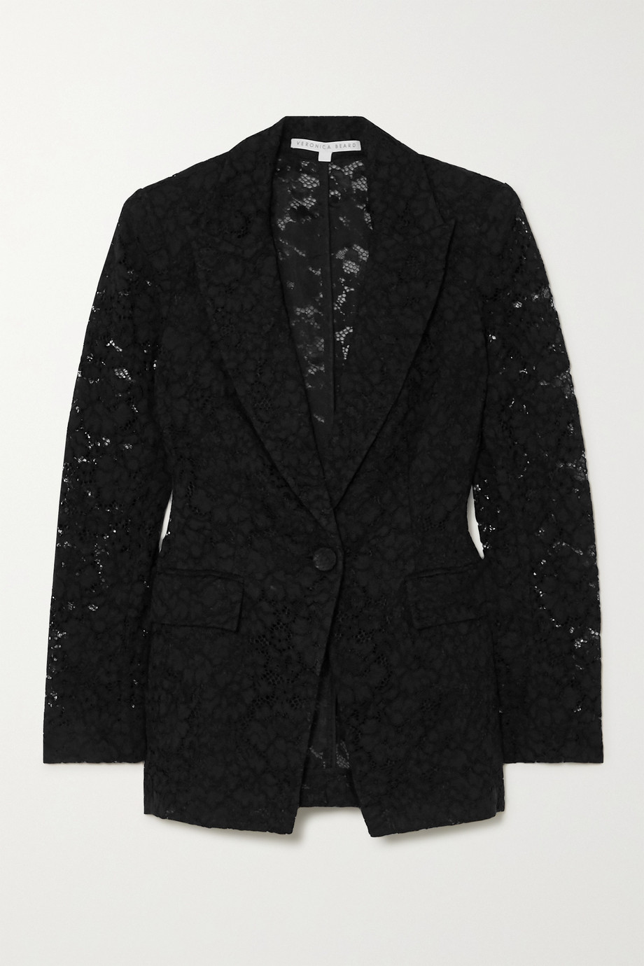Veronica Beard Long and Lean Dickey cotton-blend corded lace blazer