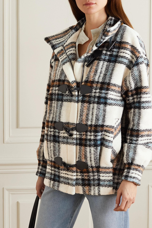 Veronica Beard Manteau en laine mélangée à carreaux Cael