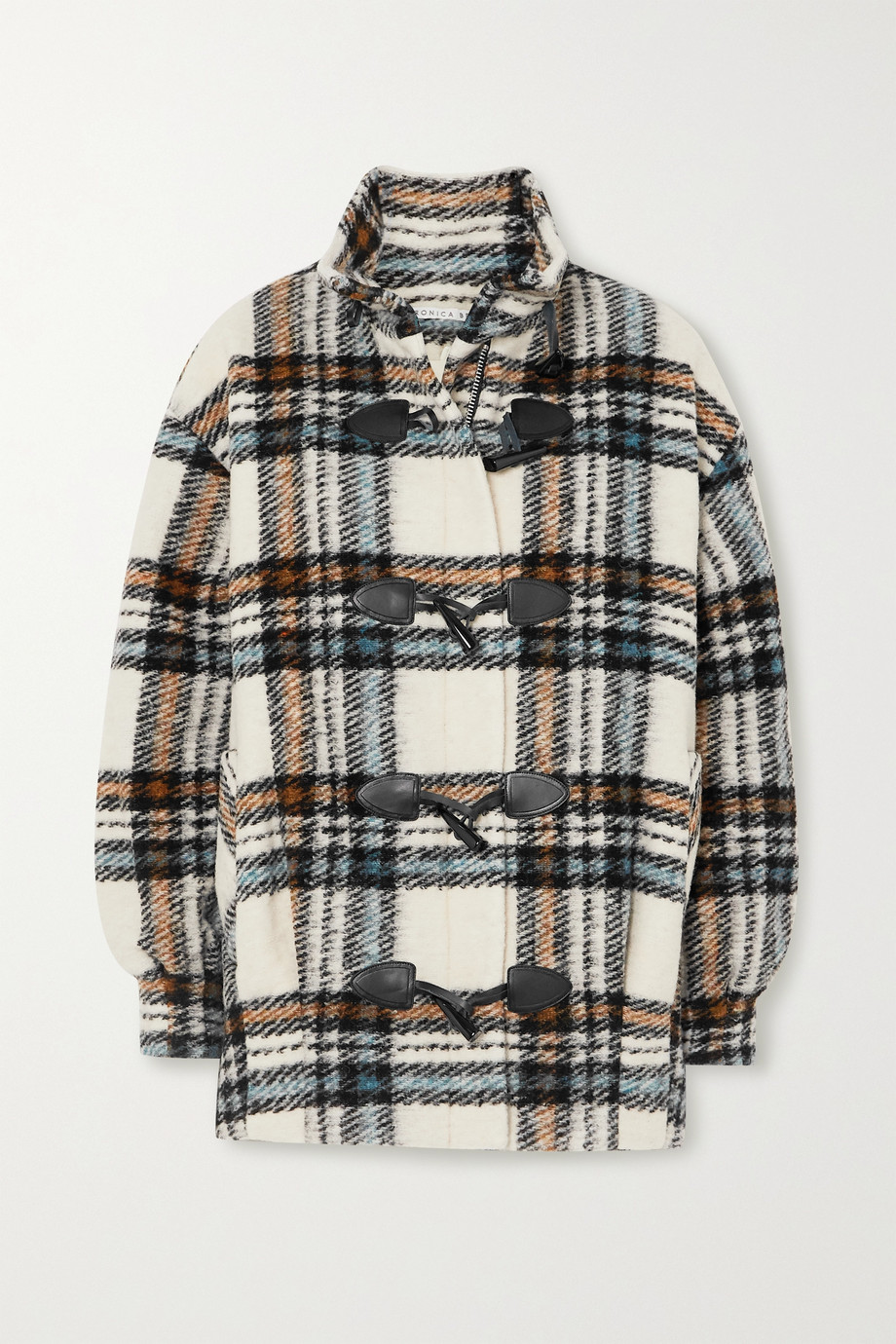 Veronica Beard Cael checked wool-blend coat