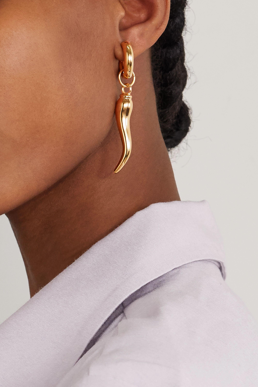 Timeless Pearly Goldfarbene Creolen mit Perlen