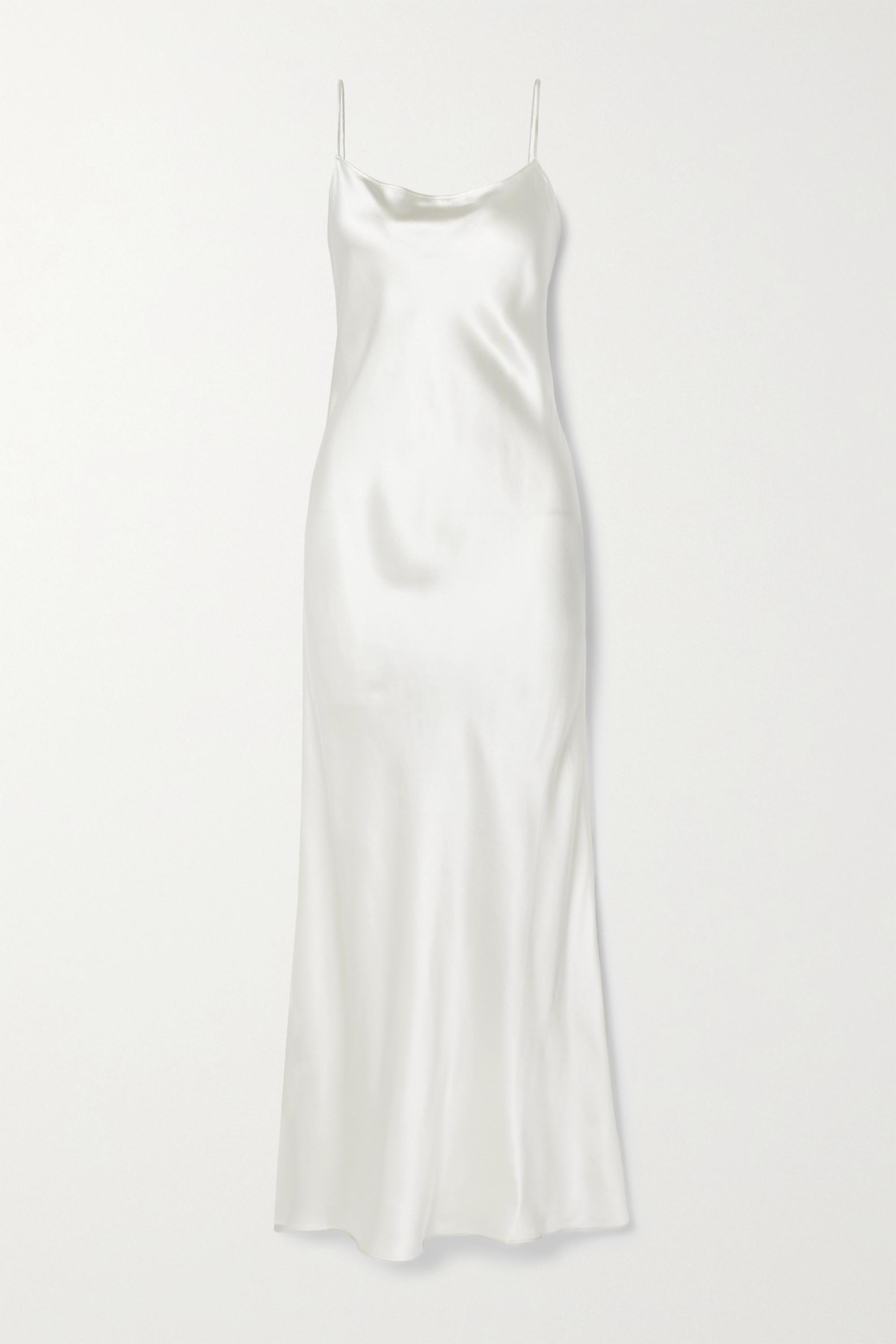 Anine Bing Chloe silk-satin maxi dress