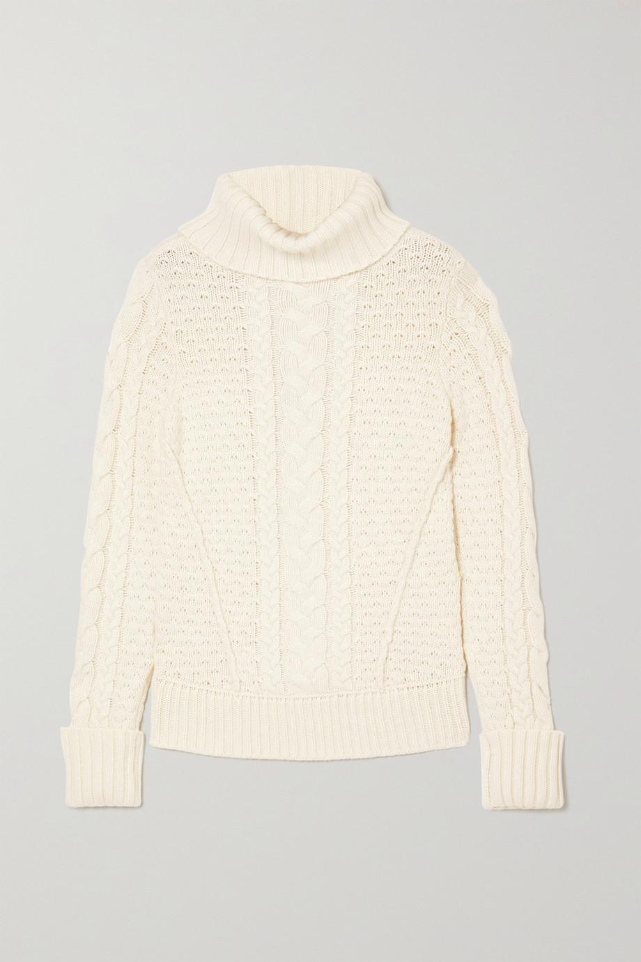 Veronica Beard Sereia cable-knit turtleneck sweater