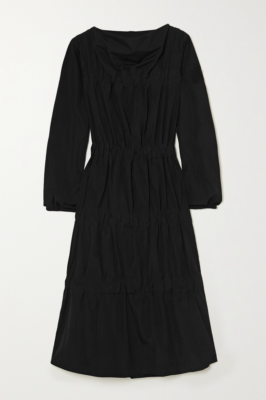 Moncler Genius + 1 JW Anderson tiered ruched poplin dress