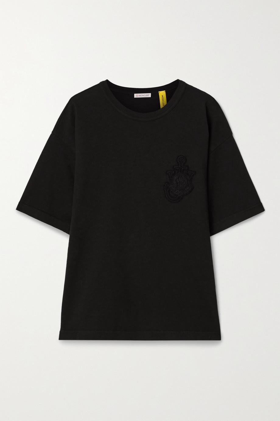 Moncler Genius + 1 JW Anderson appliquéd cotton-jersey T-shirt