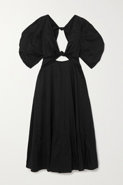 Mara Hoffman + NET SUSTAIN Leila knotted organic cotton-poplin maxi dress