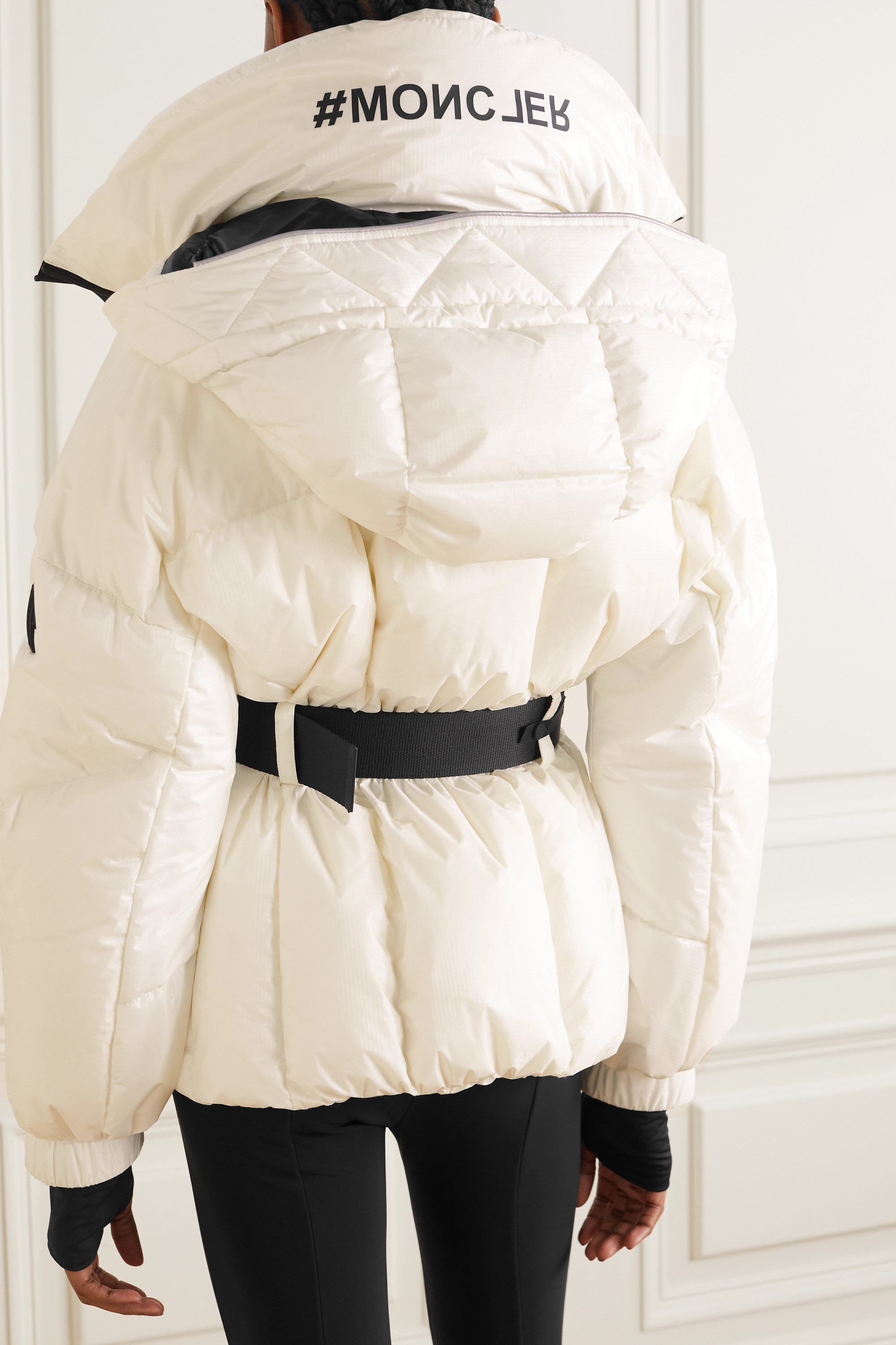 Moncler Genius Grossaix belted printed quilted down ski jacket
