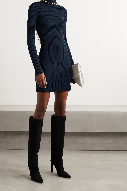 Dion Lee Rückenfreies Minikleid aus Rippstrick mit Kette