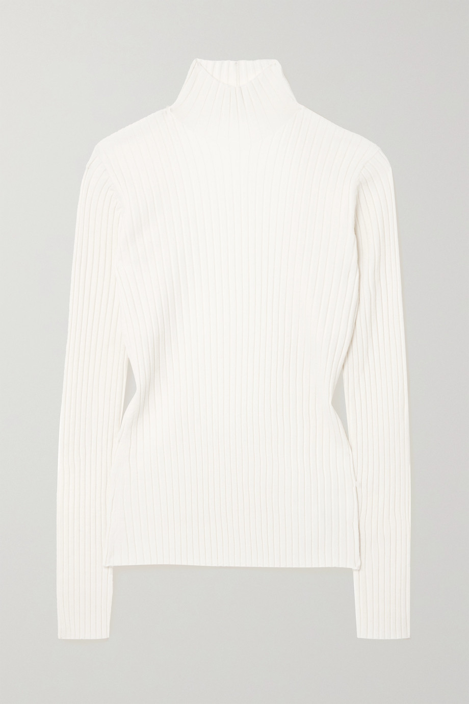 Dion Lee Open-back ribbed merino wool-blend turtleneck sweater
