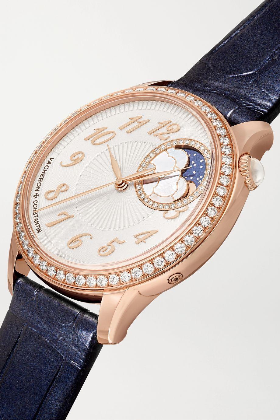 Vacheron Constantin Montre en or rose 18 carats et diamants Égérie Automatique 35 mm