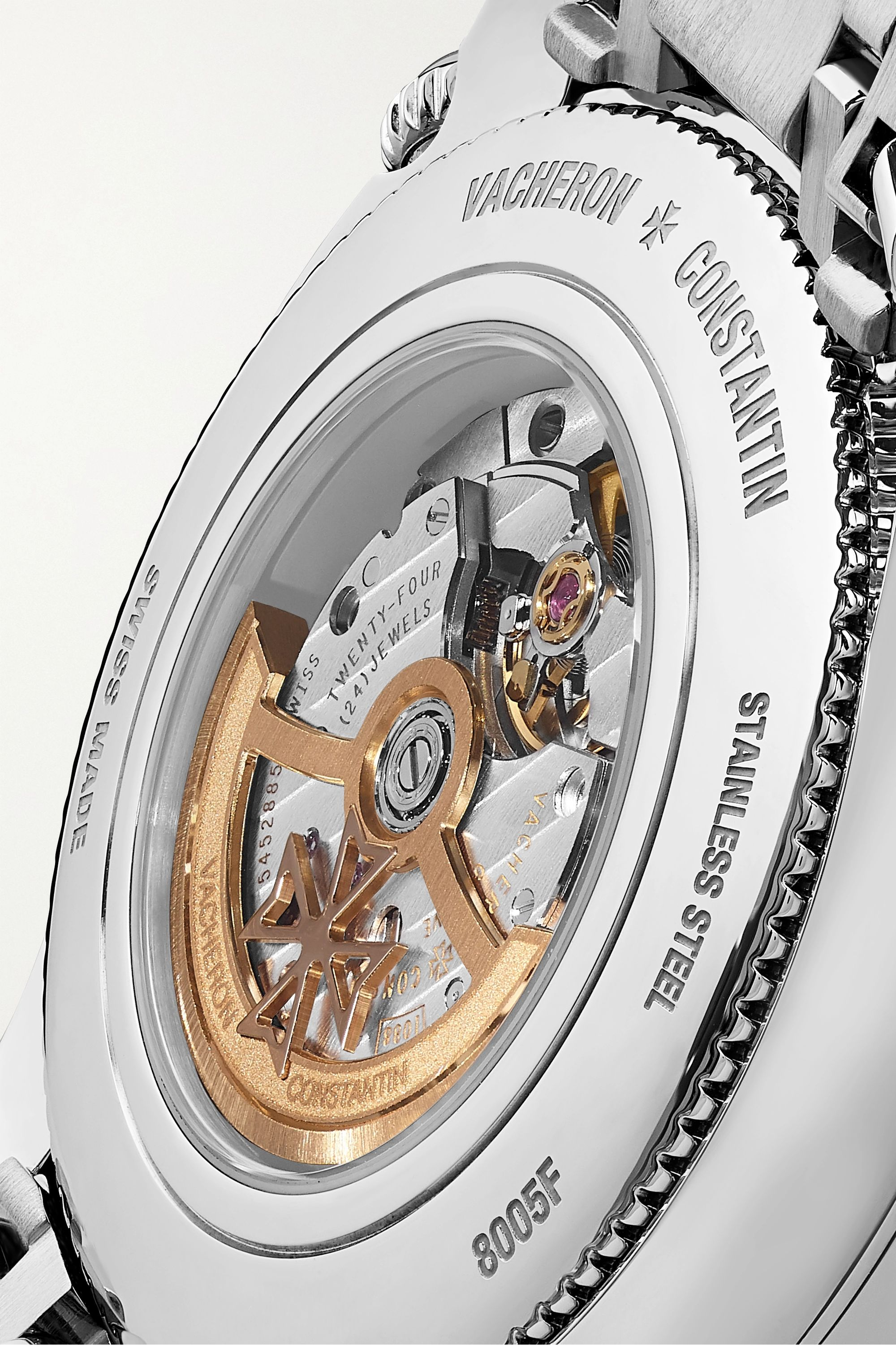 Vacheron Constantin Egérie Automatic Moon-Phase 37mm stainless steel and diamond watch
