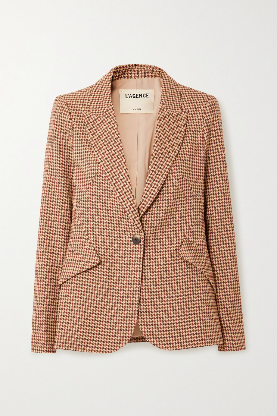 L'Agence Chamberlain houndstooth tweed blazer