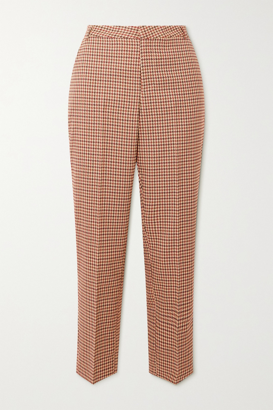 L'Agence Ludivine cropped houndstooth tweed straight-leg pants