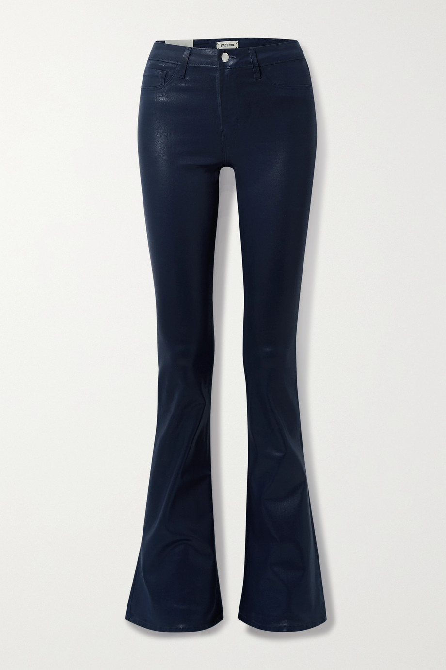 L'Agence Coated high-rise flared jeans