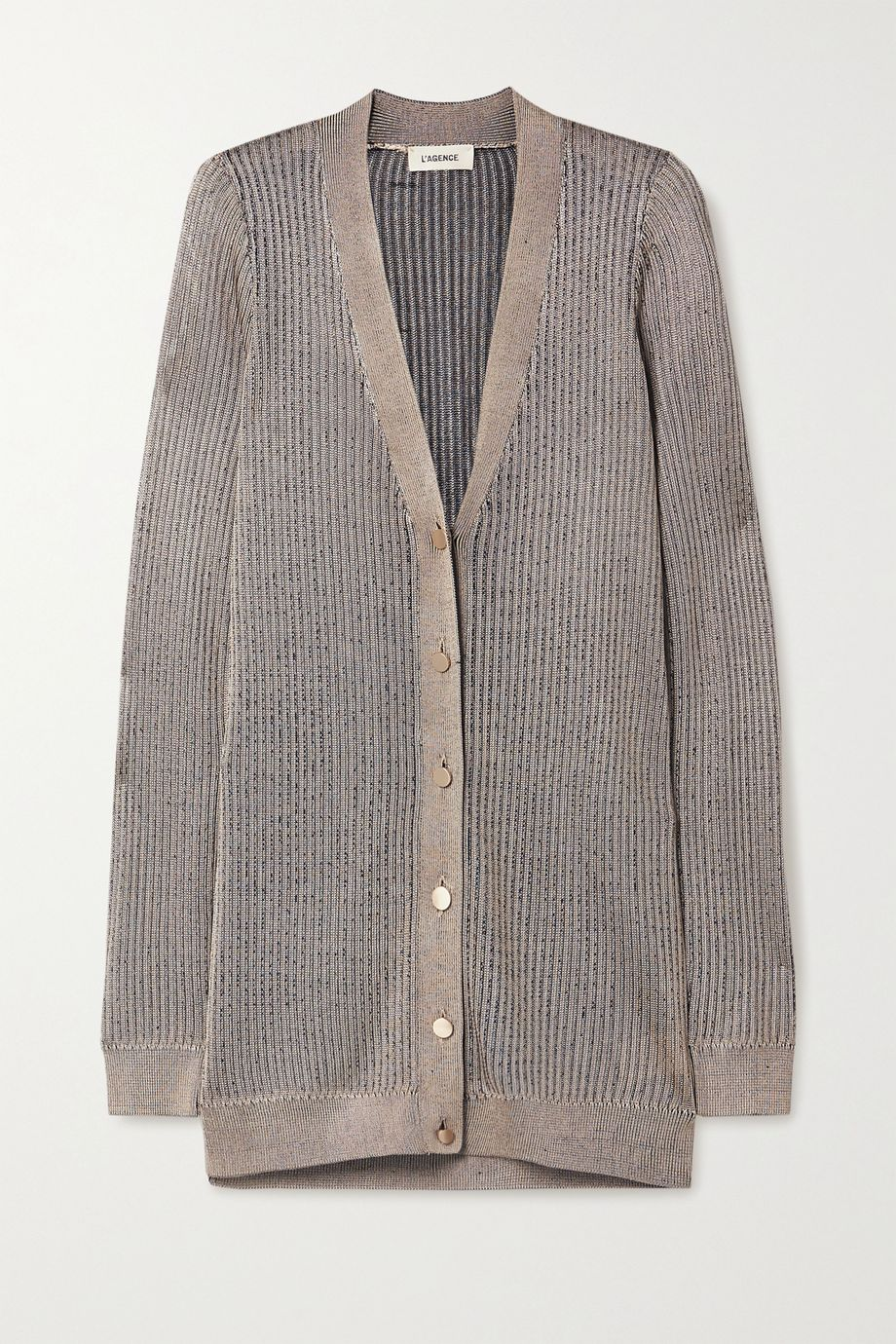 L'Agence Millie ribbed-knit cardigan