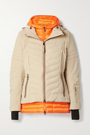 Bogner Rikela hooded layered quilted ski jacket
