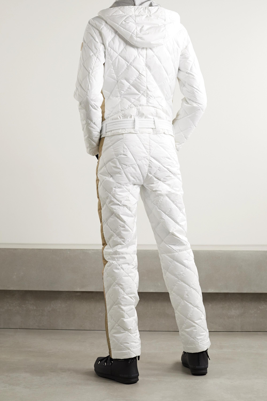 Bogner Greta belted quilted ripstop down ski suit