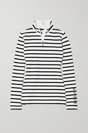 Bogner Beline striped stretch-jersey turtleneck top