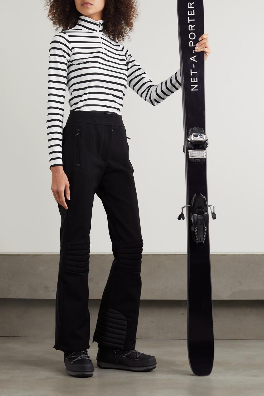 Bogner Beline striped stretch-jersey turtleneck top