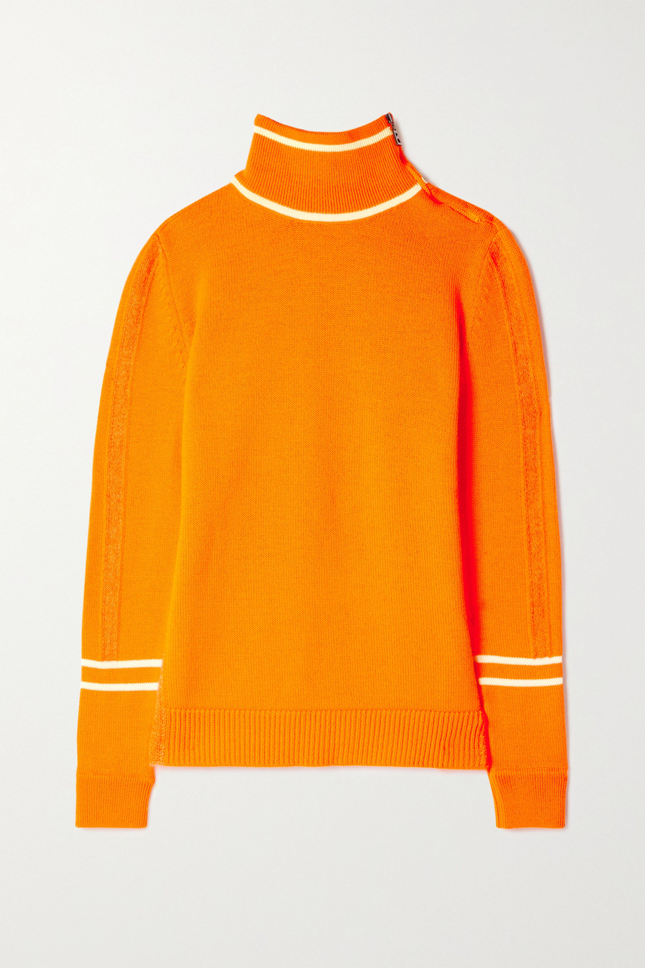 Bogner Xila embossed mohair-blend and cashmere turtleneck sweater