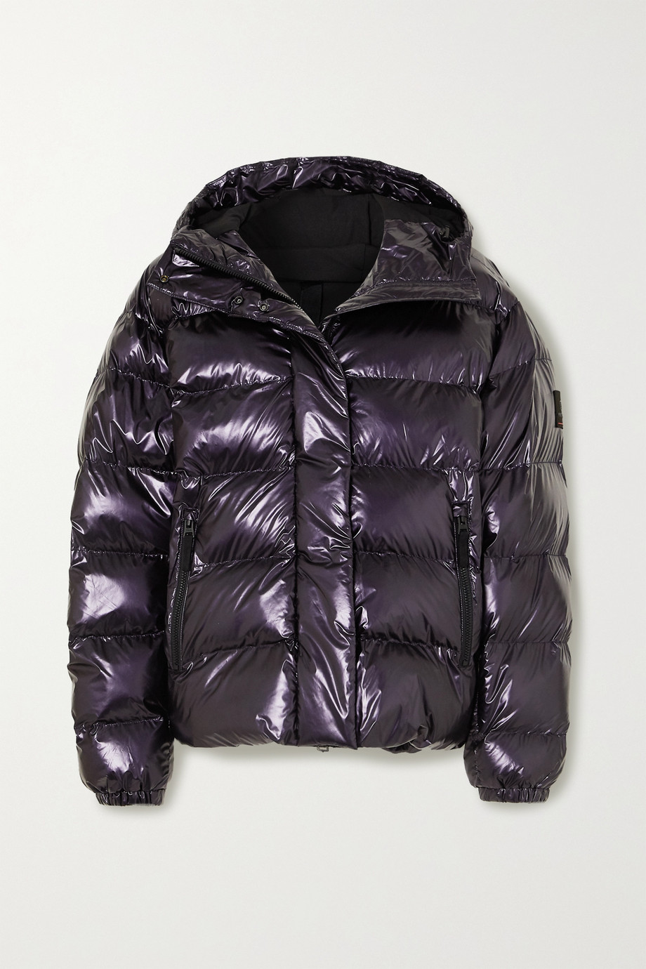 BOGNER FIRE+ICE Ranja oversized cropped hooded metallic quilted ski jacket