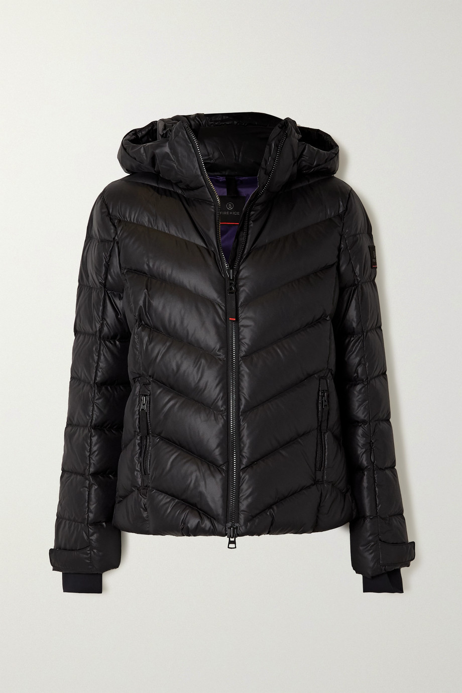BOGNER FIRE+ICE Sassy hooded quilted shell down ski jacket