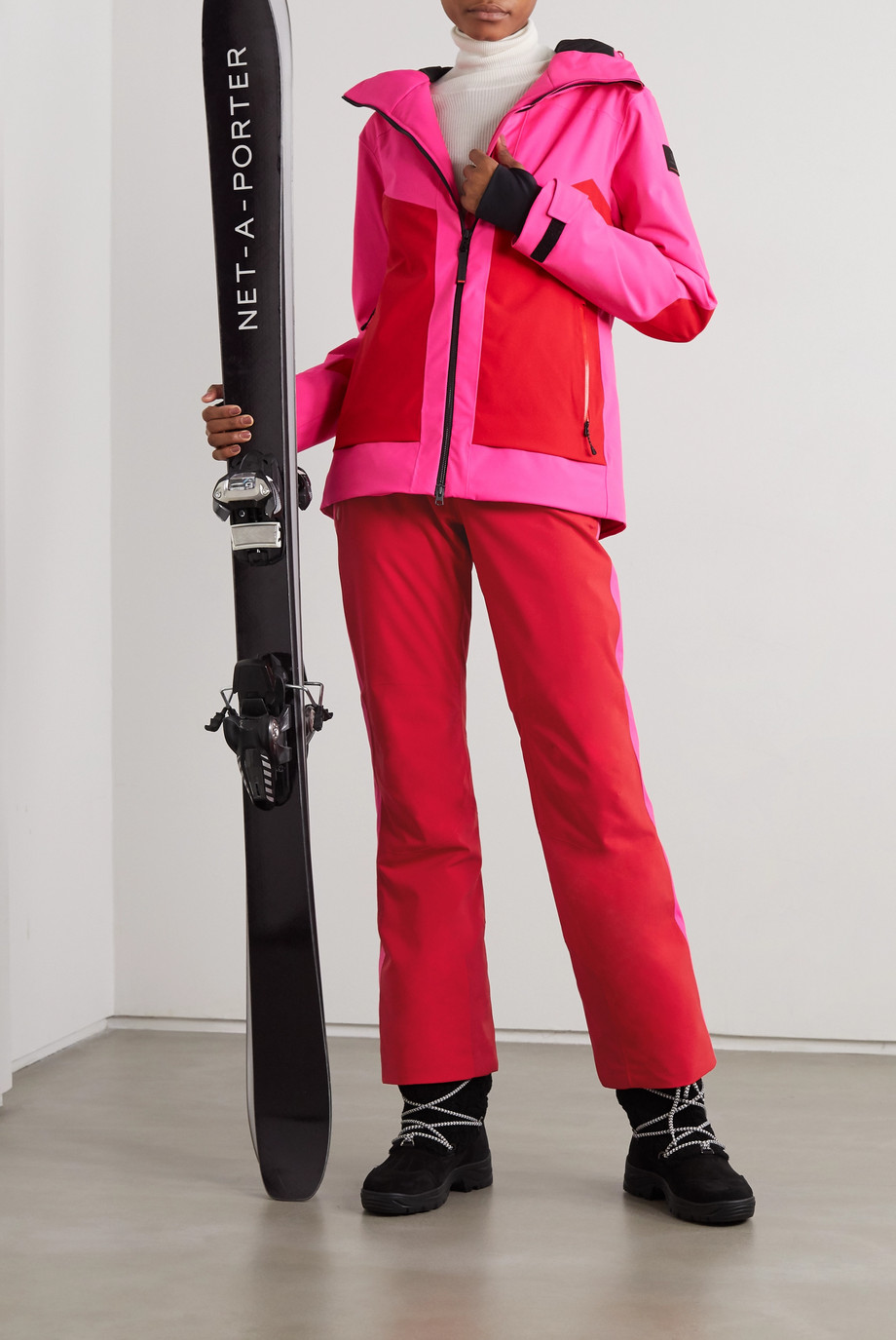 BOGNER FIRE+ICE Pika Skijacke in Colour-Block-Optik mit Kapuze